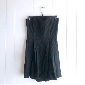 Mason Black Strapless Dress Pleated Open Back